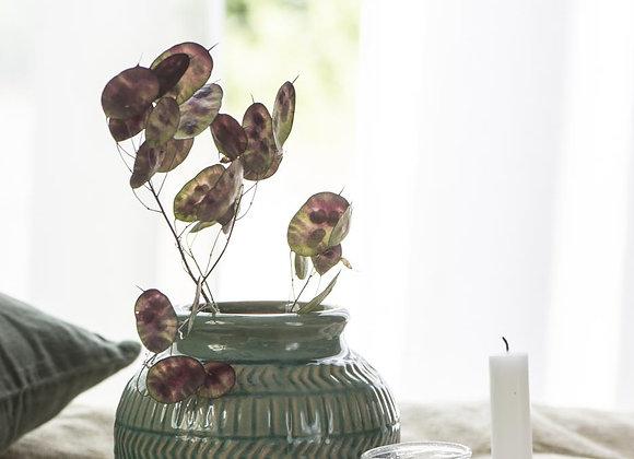 Ceramic Patterned Vase - Green