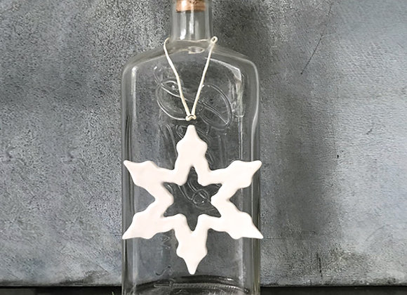 Porcelain Outline Snowflake