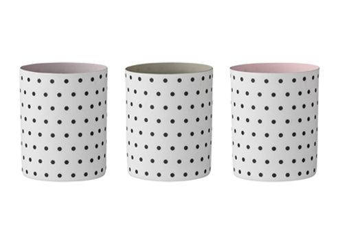 Bloomingville Votive Polka Dot - Trio (Pink, Lilac, Grey)