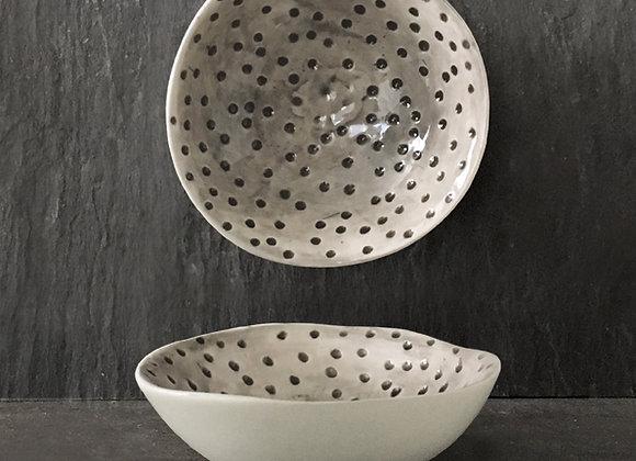 Dimpled Spots Porcelain Bowl