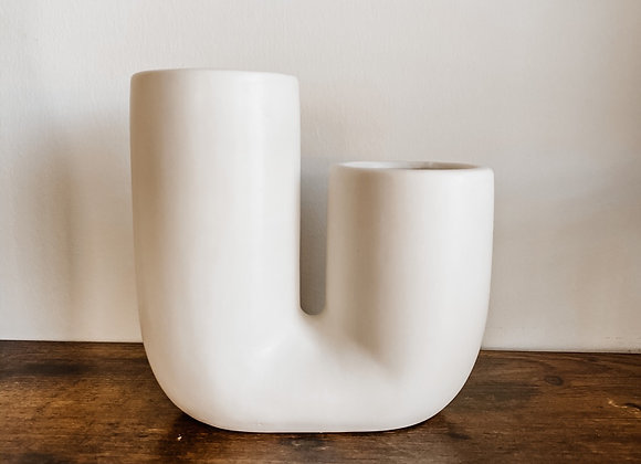 Staggered U-Bend Vase