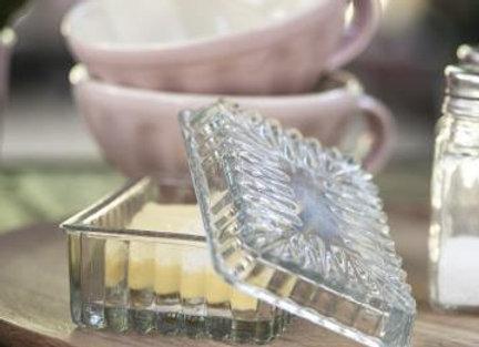 Glass Butter Box