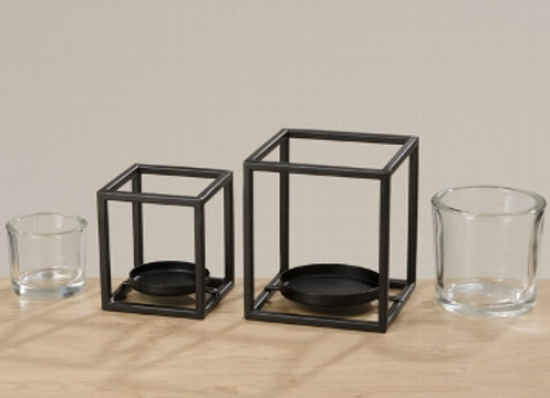 Cube Candle Holder 18cm