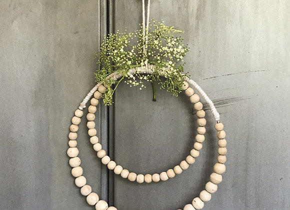 Macrame Beaded Wreath