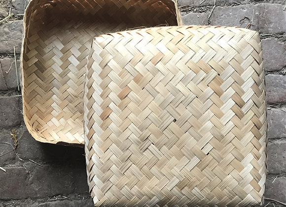 Bamboo Woven Cube Storage
