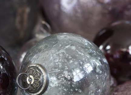 Pebble Clear Glass Bauble