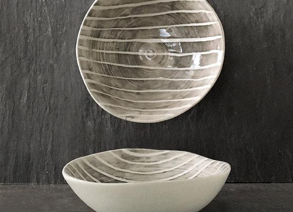 Painted Stripes Porcelain Bowl