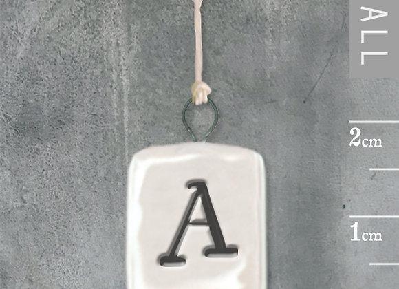 Miniature Letter Plaque - Porcelain
