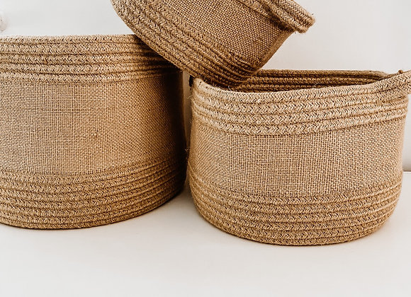 Jute Baskets - 3 Sizes Available