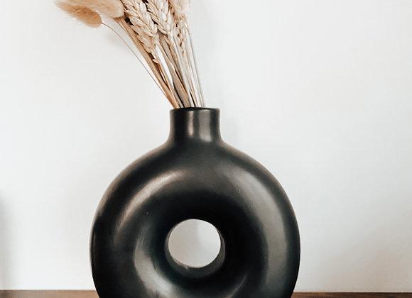 Black Donut Vase