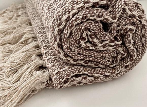 Mauve Pattern Cotton Throw