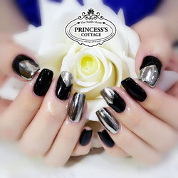Lots of different designs to have chrome effect on the nails! 【Done by Senior Nail Artist Qing】》》》Mo
