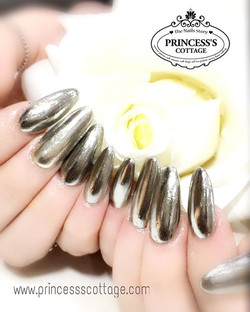 Gel infills for a customer from UK, she's here to get the cool chrome effect gel! 【Done by Senior Na