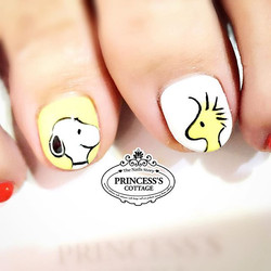 You are the peanut to my butter! ❤️Double Tap❤️ #SnoopyandWoodstock 【Done By Nail Artist Chevonne at