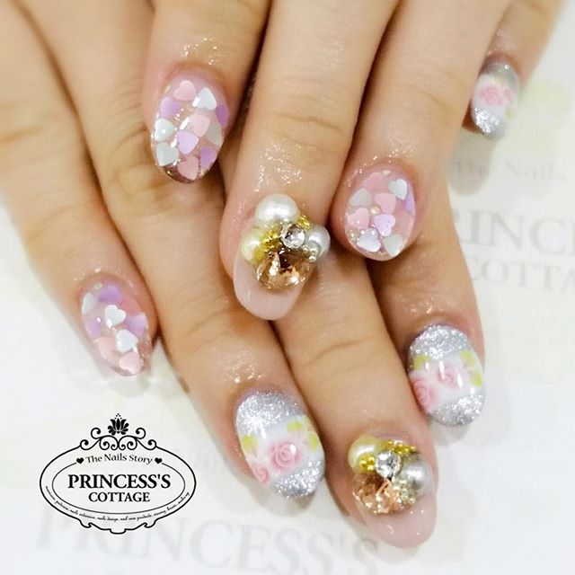 Gel nails extensions and full set nailart by Meymey at The Seletar Mall