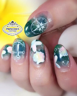 Have a nice day! Another set of summer nails, these nails are so suitable for for a resort getaway!