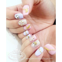 Sweet pastel nails, Done by Janice at The Seletar Mall. _Book your appointment Online _www.princeSSS