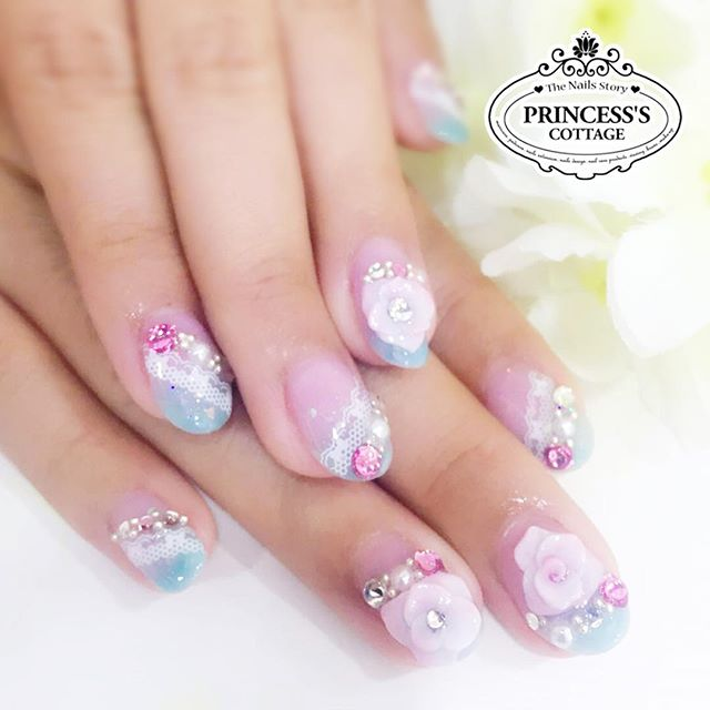 Bridal nails done by Meymey at The Seletar Mall. Bridal package available at $188, more info_ www.pr