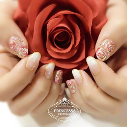 Flowers and roses are always the best theme for nailarts! 【Done by Ketian at Tampines】 》》》On-going p