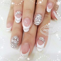 Bridal Nails done by Jane at The Seletar Mall. Check out our bridal package on www.princessscottage