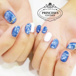 Denim effect, Done by Janice at The Seletar Mall. _Book your appointment Online _www.princeSSScottag