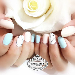 Some nailart tips_ Just add another matching color to a simple nailart will enhance the whole set