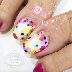 Flower garden done by Joanna at The Seletar Mall. _Book your appointment Online _www.princeSSScottag