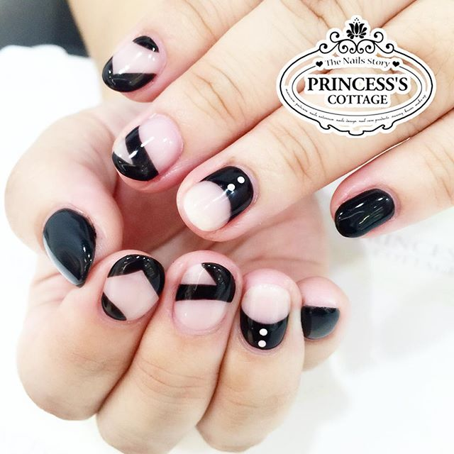 Short Minimal nails. Done by Joanna at The Seletar Mall.__Book your appointment Online _www.princeSS
