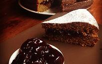 tortadi grano saraceno e marmellata di ciliegie