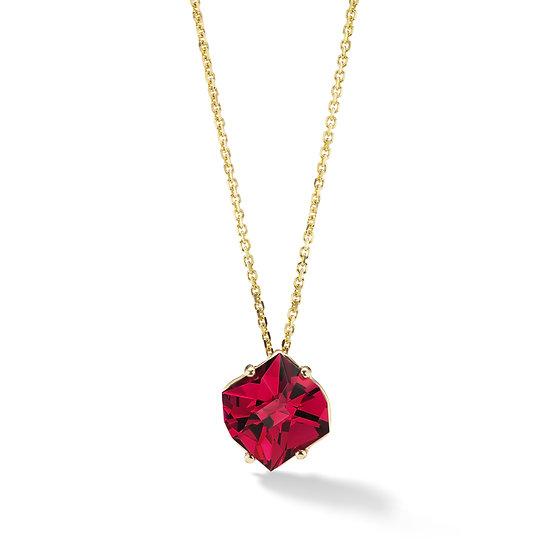 14k Yellow Gold Rhodolite Necklace