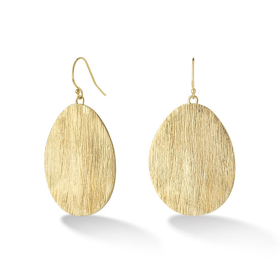 18k Florentine Disc Earrings