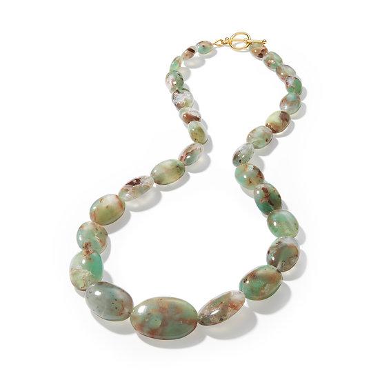 Aquaprase Graduated Bead Necklace