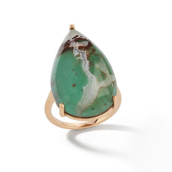 14k Rose Gold Pear Shape Aquaprase Ring