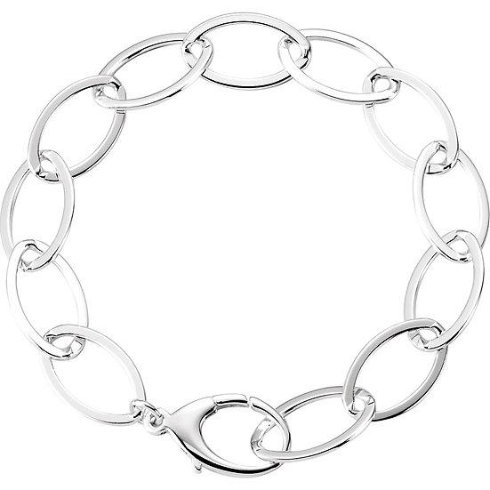 Designer Bracelet Sterling Silver Link Bracelet