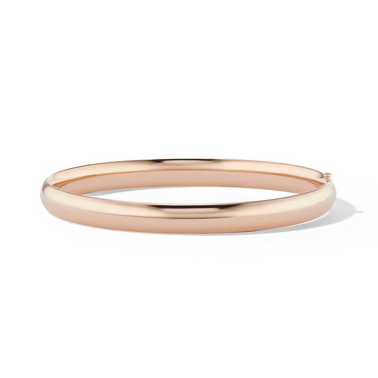 14k Rose Gold Hinged Bangle Designer Bracelet