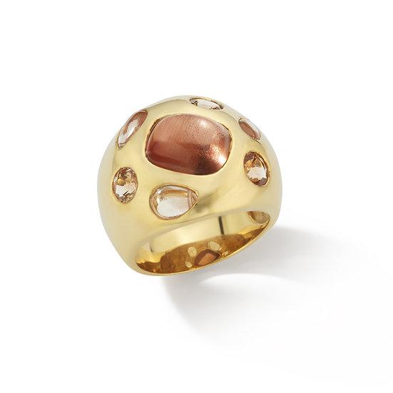 18k Yellow Gold Natural Oregon Sunstone Ring