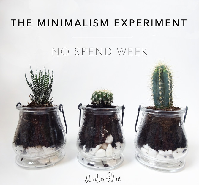 The Minimalism Experiment W1: No Spend Week
