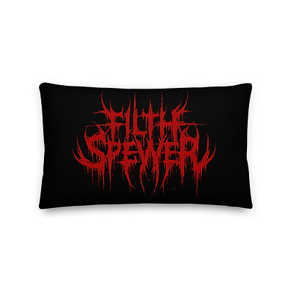 Filth Spewer Red Premium Pillow