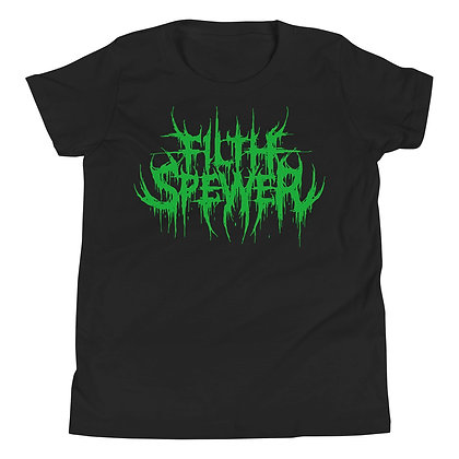 Youth Filth Spewer Green Short Sleeve T-Shirt