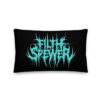 Filth Spewer Light Blue Premium Pillow