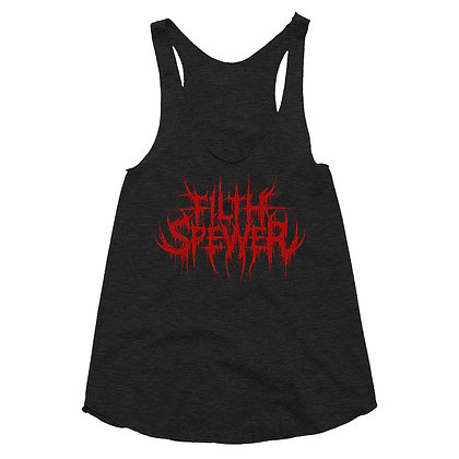 Women's Filth Spewer Logo Red Racerback Tank