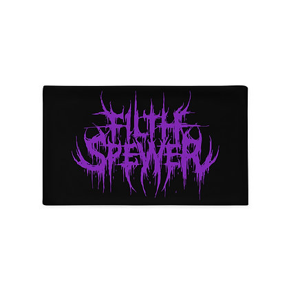 Filth Spewer Logo Purple Pillow Case
