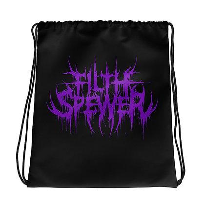 Filth Spewer Logo Purple Drawstring bag
