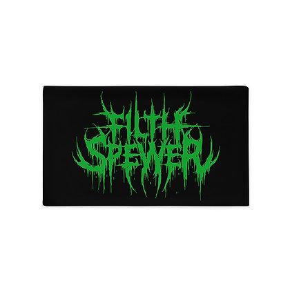 Filth Spewer Logo Green Pillow Case