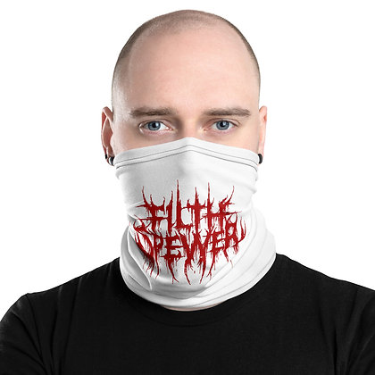 Filth Spewer Red and White Neck Gaiter