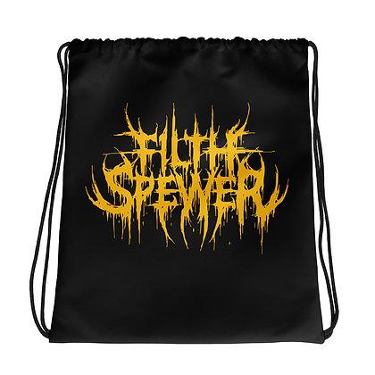 Filth Spewer Logo Yellow Drawstring bag