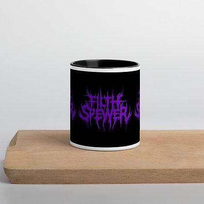 Filth Spewer Logo Purple Mug with Color Inside