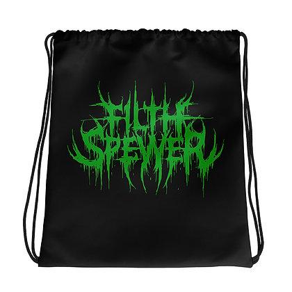 Filth Spewer Logo Green Drawstring bag