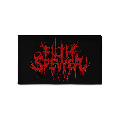 Filth Spewer Logo Red Pillow Case