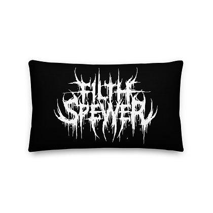 Filth Spewer White Premium Pillow